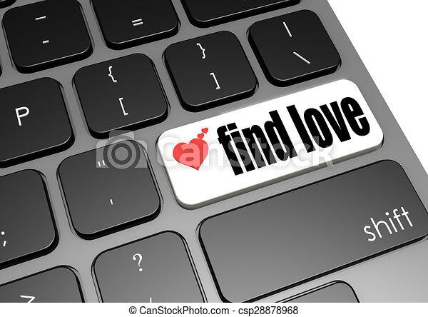 Find love black keyboard - csp28878968
