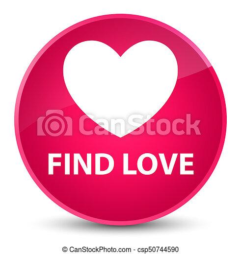 Find love elegant pink round button - csp50744590