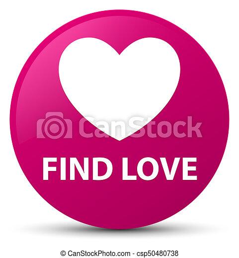 Find love pink round button - csp50480738