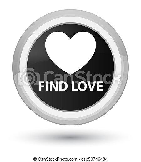 Find love prime black round button - csp50746484