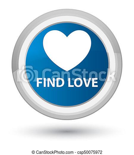 Find love prime blue round button - csp50075972