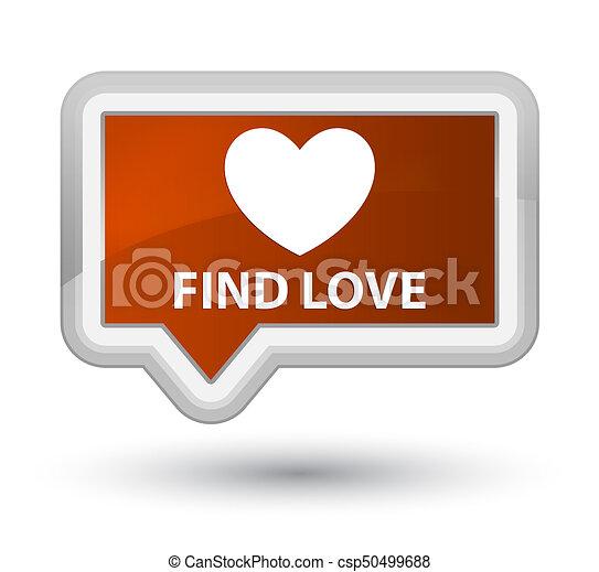 Find love prime brown banner button - csp50499688
