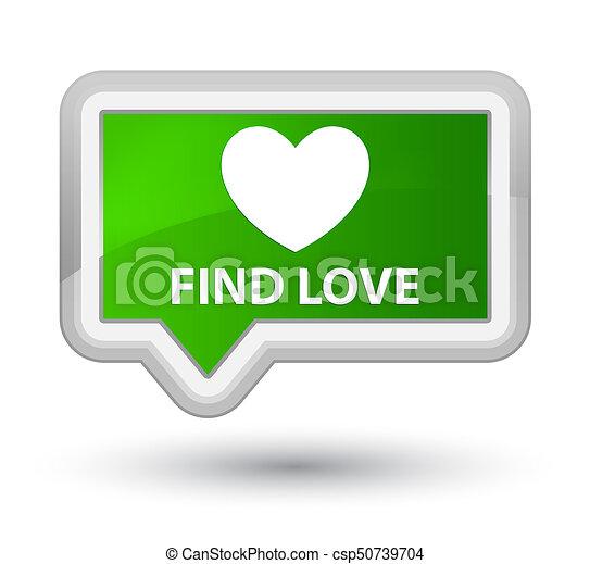 Find love prime green banner button - csp50739704