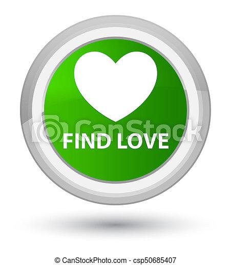 Find love prime green round button - csp50685407
