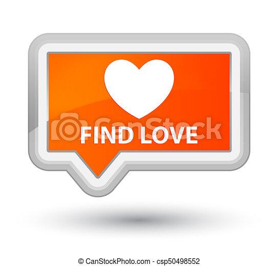Find love prime orange banner button - csp50498552