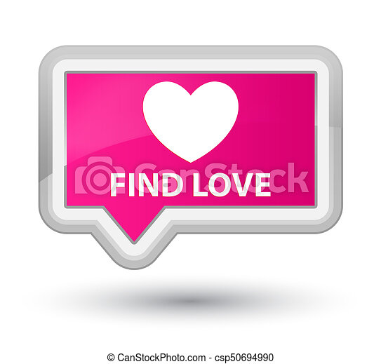 Find love prime pink banner button - csp50694990