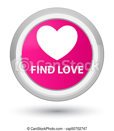 Find love prime pink round button - csp50702747