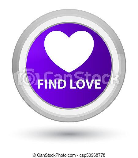 Find love prime purple round button - csp50368778