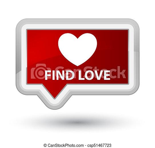 Find love prime red banner button - csp51467723