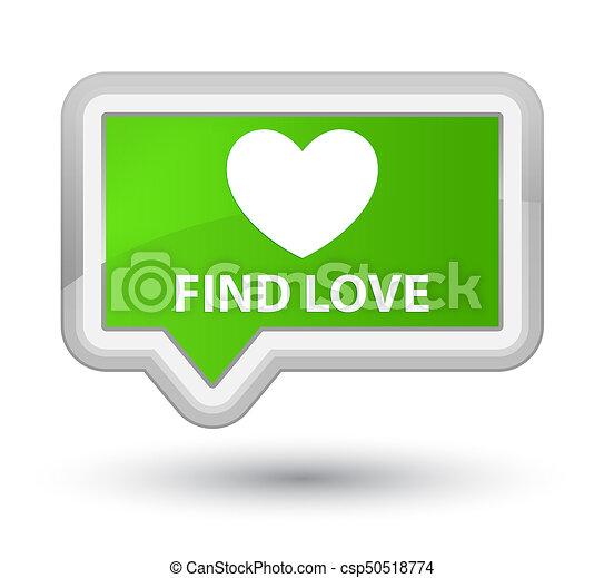 Find love prime soft green banner button - csp50518774