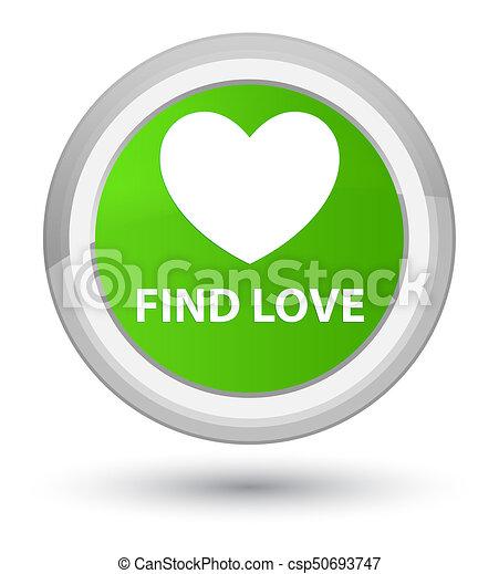 Find love prime soft green round button - csp50693747