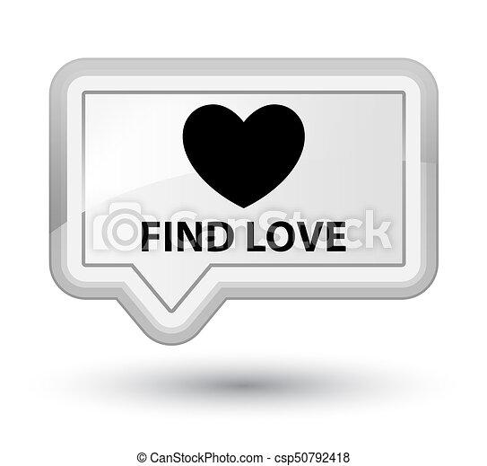 Find love prime white banner button - csp50792418