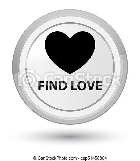 Find love prime white round button - csp51458804
