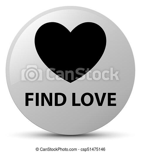 Find love white round button - csp51475146