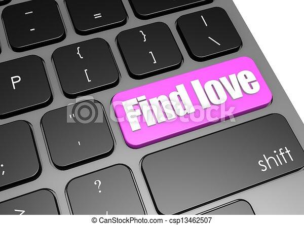 Find love with black keyboard - csp13462507