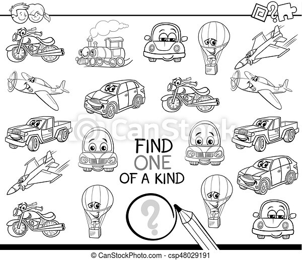 find one of a kind coloring book - csp48029191