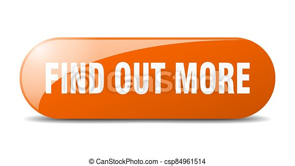 find out more button. sticker. banner. rounded glass sign - csp84961514