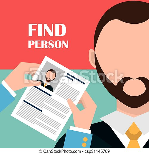 Find person and job interview - csp31145769