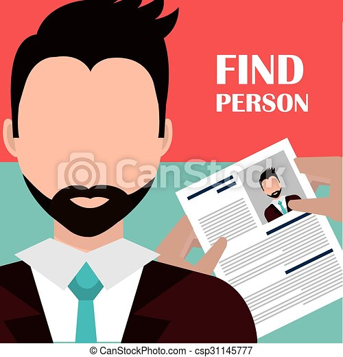 Find person and job interview - csp31145777