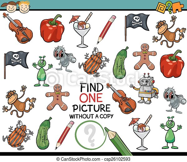 find single picture game cartoon - csp26102593