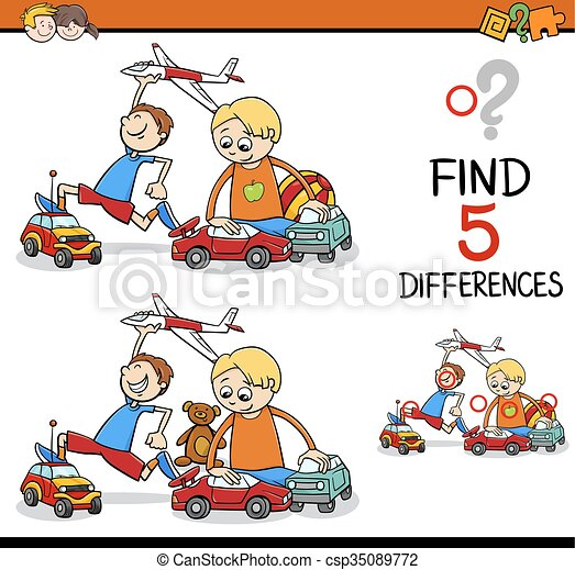 find the differences activity - csp35089772