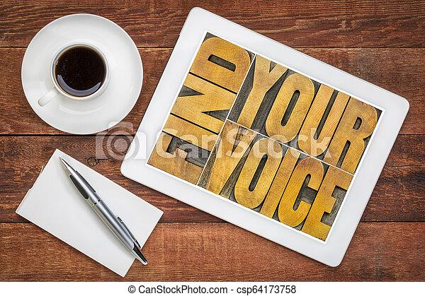 find your voice concept - csp64173758