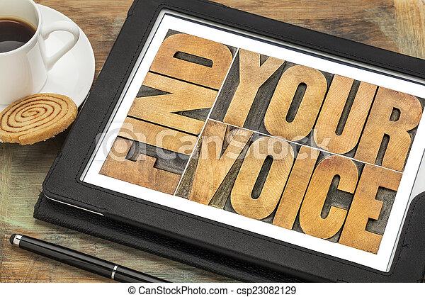 find your voice concept - csp23082129