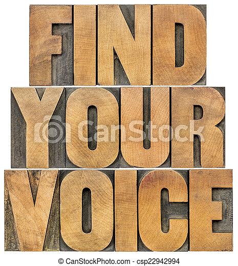 find your voice - csp22942994