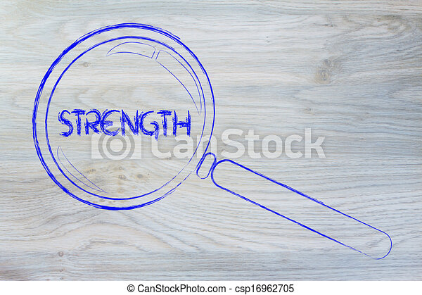 finding strength, magnifying glass design - csp16962705
