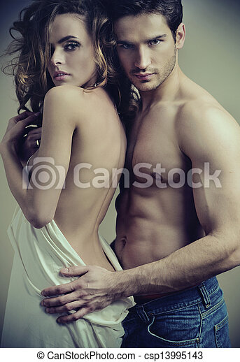Fine art picture of serious couple - csp13995143