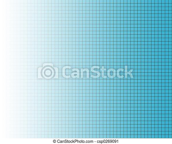 Fine black grid on blue - csp0269091