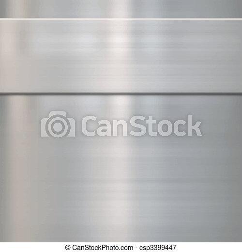 fine brushed steel metal - csp3399447