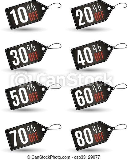 fine, set., etichette, vendita, risparmi, anno - csp33129077