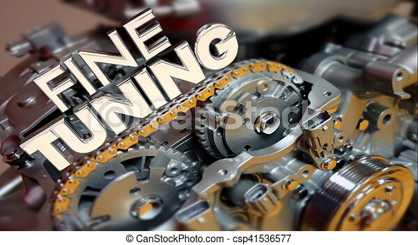 Fine Tuning Engine Performance Engineering Words 3d Illustration - csp41536577