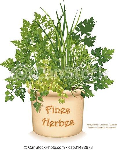 Fines Herbes Garden Planter - csp31472973