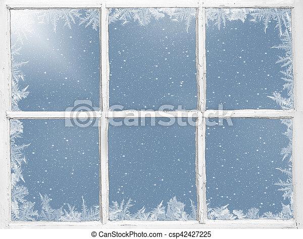 finestra, alterato, frosted - csp42427225