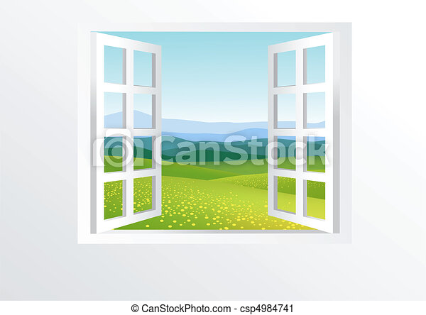 finestra, aperto, natura - csp4984741