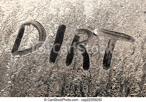 finestra, parola, sporco, sporcizia - csp22359240