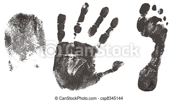 Finger, hand and feet print - csp8345144