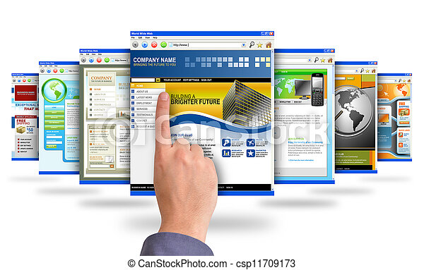 Finger Pointing at Internet Websites - csp11709173