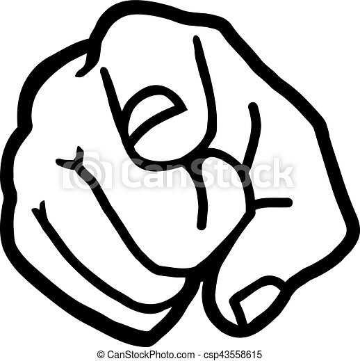 finger pointing at you vector clip art search illustration rh canstockphoto com pointing finger clipart png clipart fingers pointing