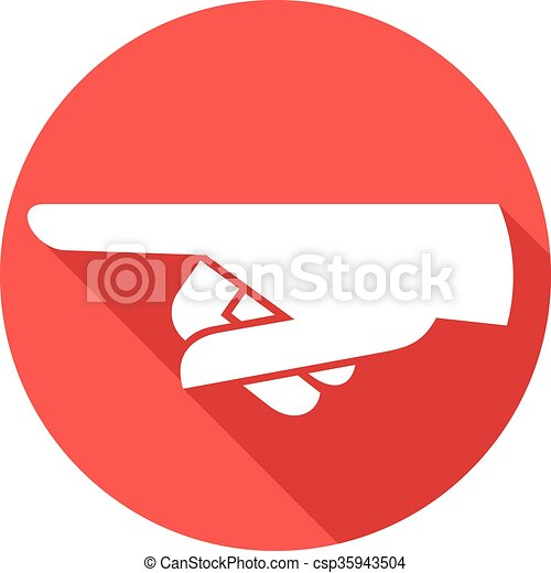 finger pointing flat icon - csp35943504