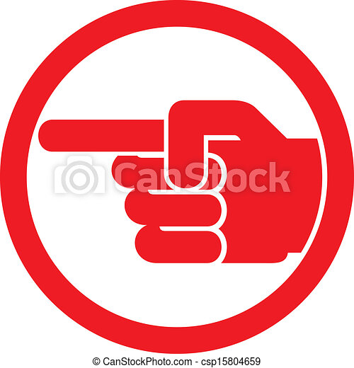 finger pointing symbol - csp15804659