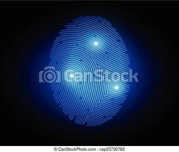 finger print - csp23730762