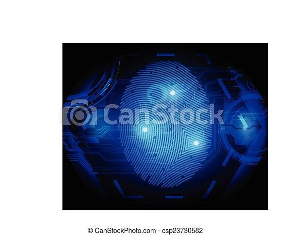 finger print  - csp23730582