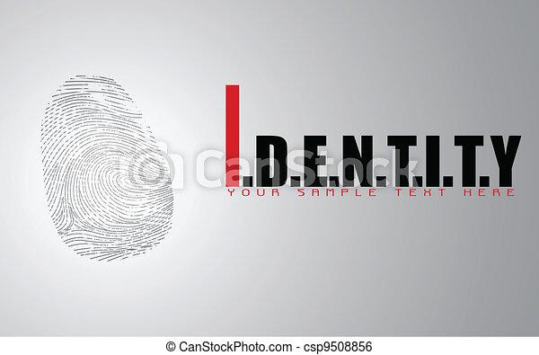 Finger Print on Identitiy Background - csp9508856