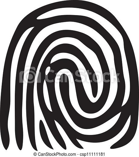 finger print (vector fingerprint) - csp11111181