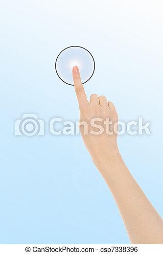 finger pushing keypad button - csp7338396