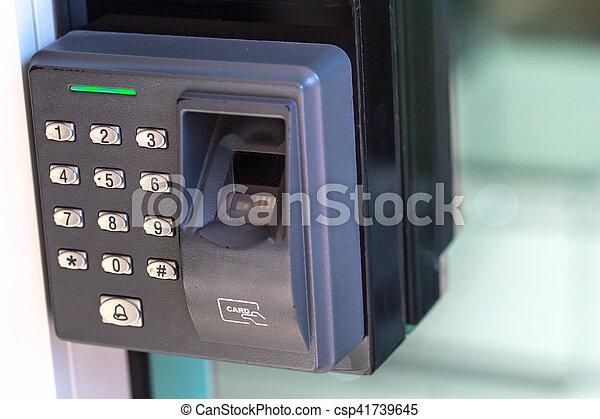 & finger scan security door key lock.