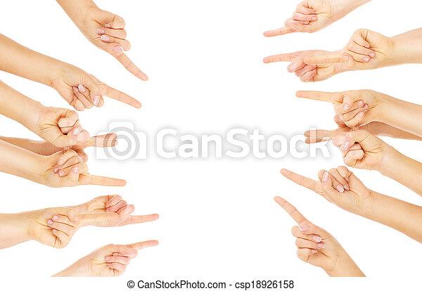Finger zeigen - csp18926158